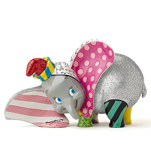 Disney Britto 4050482 Dumbo Figurine, Grey, 3.5'
