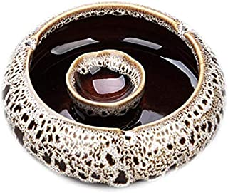 Ashtray, Ashtray, Creative Personality, Trend, Large, Multi-Functional, Without Cover, Glass Ceramic, Living Room, Crystal, Cute Ashtray. Ideal for Home, Office use, Welcome to Buy (Color : A),Colour