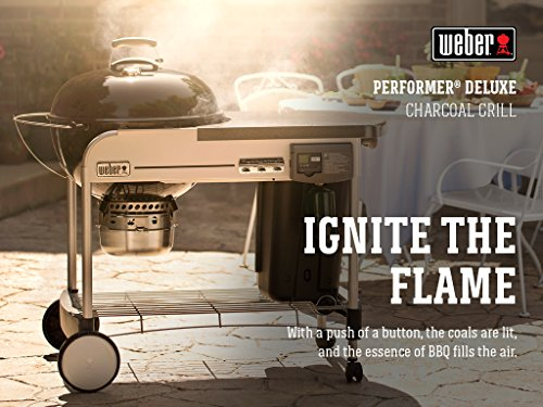 Weber 15501001 Performer Deluxe 22-Inch Charcoal Grill, Touch-N-Go ignition, Copper