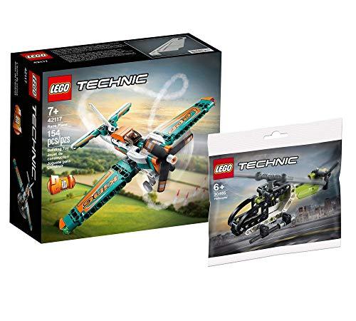 Collectix Lego Set – Avión de carreras Lego Technic 42117 + helicóptero Lego Technic 30465 (bolsa de plástico)