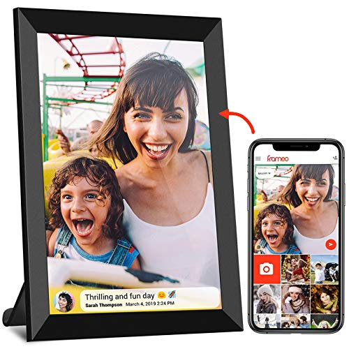 Digital Picture Frame WiFi YENOCK 10.1″ Touch Screen 1280 800 Built in 16GB Memory Portrait&Landscape Instantly Photo & Video Sharing APP/Email/Facebook/Twitter