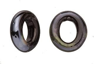 15pcs Moss Agate Porcelain Slider Beads for Licorice Leather - O Style Glaze finish 18x21mm