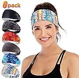 IUGA Yoga Headband for Women, Non-Slip Sweabands for Workout, Running, Yoga Sport, 6 Styles Women's Fashion Headband, Performance Elastic