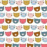 Nickistoff NICKY HAPPY CATS, weiß 003 / 50x155 cm