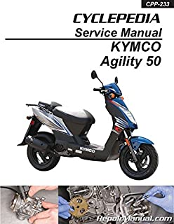 CPP-233-P Kymco Agility 50 Scooter Printed Service Manual by Cyclepedia