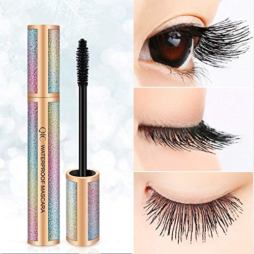 4D Silk Black Fiber Lash Mascara Starry Sky Impermeable Long Curling Maquillaje Extensión de pestañas Grueso Alargar Cosméticos