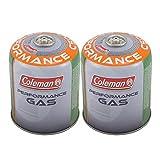 Coleman 2 cartuchos de rosca C500 de 440 g, válvula de gas, hornillo butano propano