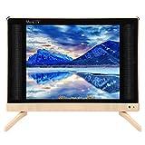 Kafuty TV LCD 24 Pouces 1366x768 HD Mini télévision Portable avec Basse qualité sonore, antipoussière et Anti-Rayures, Facile à Installer(EU Plug)