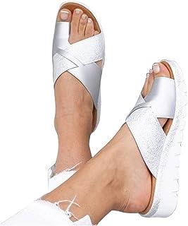 ZLLYT Sandalias Mujer Verano Sandalias Correctoras Juanetes Mujer Acogedor PU Plataforma Casual Zapatos Adapta a La Mayorí...
