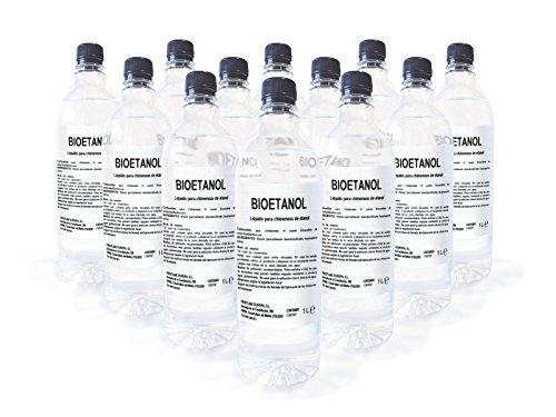 Combustible de origen natural liquido Caja de 12 botellas de 1 Litro Firstline