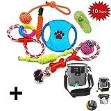 WoBoSen 10 PCS Perro Mascota Juguetes Interactivos, Cuerdas de Nudo, Bolas, Zapato, Disco de...