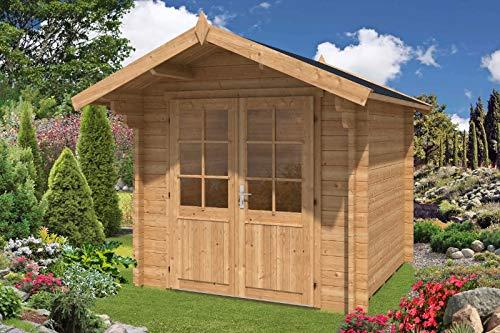 Alpholz Gartenhaus 44 mm Wandstärke Lena aus Massiv-Holz...