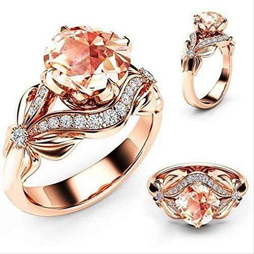 Iwino zirkoon ingelegd met holle vlinder rose gouden trouwringen voor vrouwen strass boog verlovingsring voor vrouwelijke sieraden