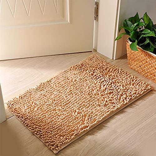 Waterabsorptie deurmat Ultra-Fine zacht antislip, geschikt voor woonkamer, badkamer, wastafel, deuropening, bad, bruin 50x180cm A