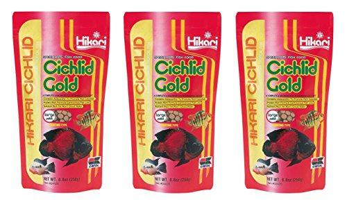 (3 Pack) Hikari Cichlid Gold Floating Pellets Large, 8.8-Ounce