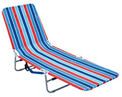 Customize your own beach chair comfort with unlimited reclining positions Get maximum all day tanning with the fully reclining, lay flat option The backpack beach chair features adjustable backpack straps that make it easy to carry Includes a large s...