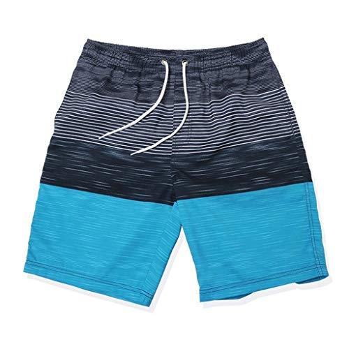 HaiDean Herren Sport Badehose Schwimmhose Männer Kurz Lässig Modernas Badeshorts Nner Herren Kurz Hochelastisch Schnelltrocknend (Color : Blau, Size : M)