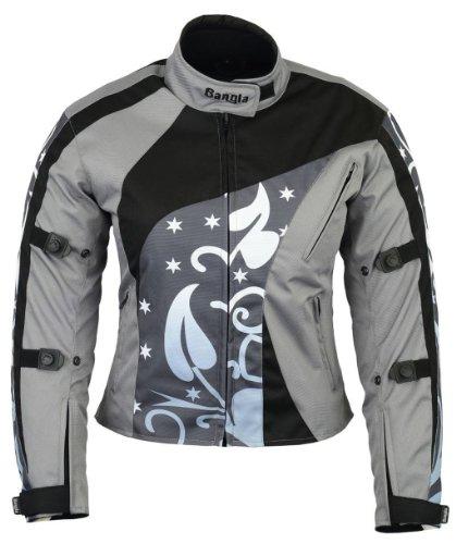 B-07 Bangla Damen Motorrad Jacke Textil Cordura600 Grau gemustert S