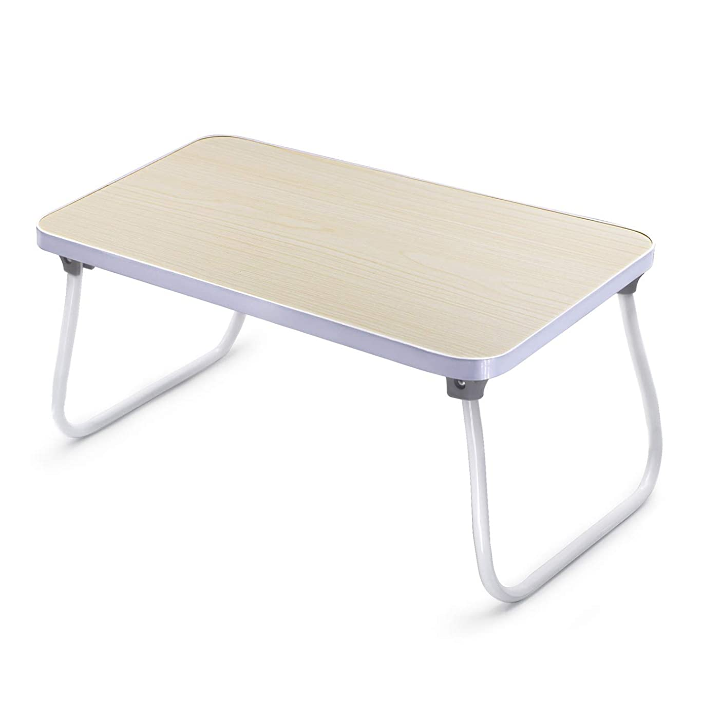 世界に死んだ天才付添人折りたたみテーブル (木の色)