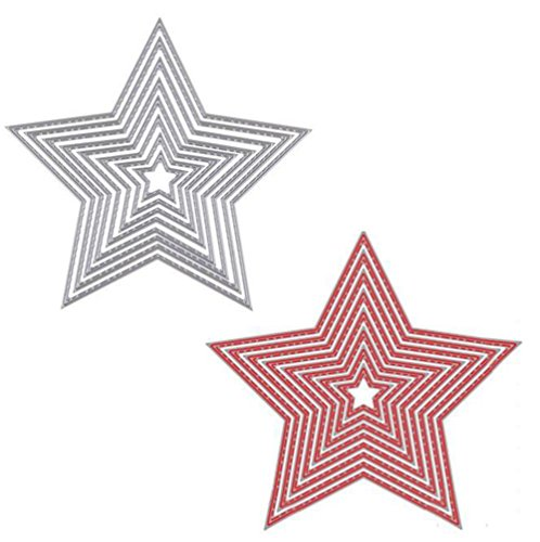 outflower 8pcs cinco puntas estrella corte Dies Plantillas para DIY Scrapbooking Hacer, diseño de