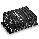 Amplificador de audio para coche o moto, 12 V, Bluetooth, 2 canales, SD U-Disk, con fuente de alimentación
