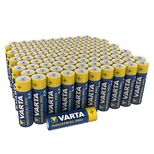 Varta Industrial AA Mignon Alkaline Batterien LR6 - 100er Pack, umweltschonende Verpackung, Design...