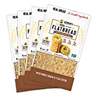 Atoria's Family Bakery Mini Lavash bread w/ Whole Grain & Flax │Perfect for sandwich bread, wraps or pizza crust │50 calories, 5g net carbs│Keto-friendly│ 4 packs of 8 flatbreads| 32 pieces