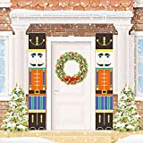 Christmas Nutcrackers Decorations Outdoor 2020 Xmas Decor Life Size Soldier Model Nutcracker Banners for Front Door Porch Garden Indoor Kids Holiday Party