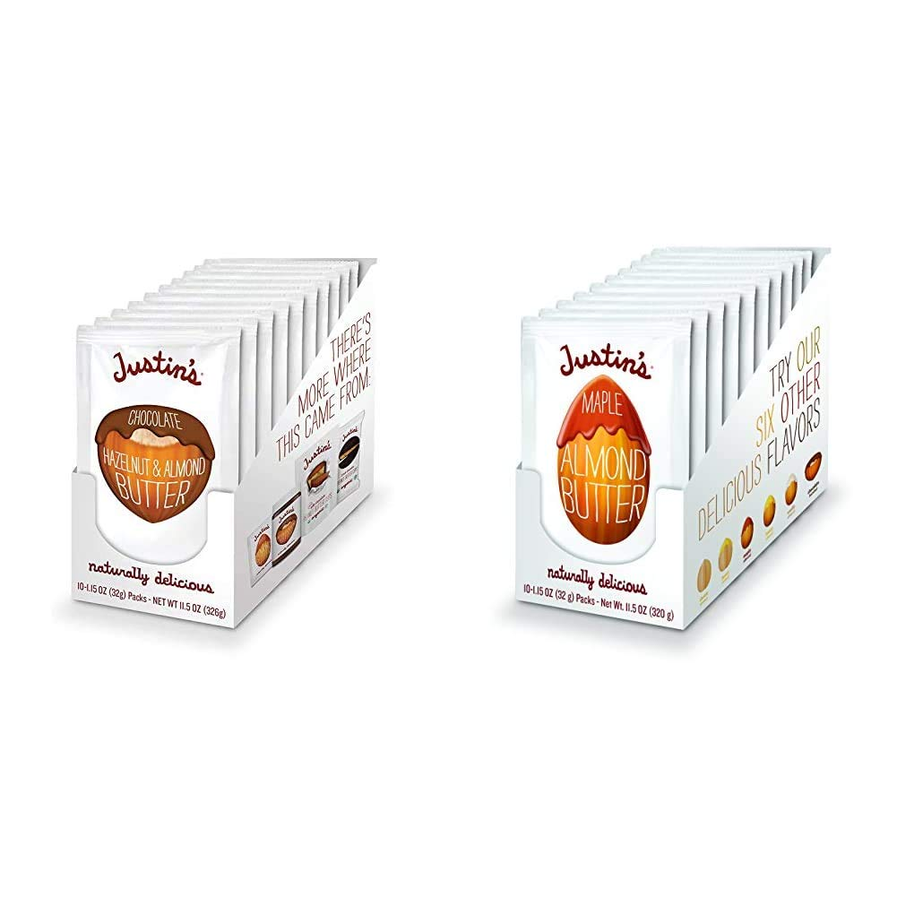 Justin's Chocolate Hazelnut Gifts Almond Organi Pack Squeeze Complete Free Shipping Butter