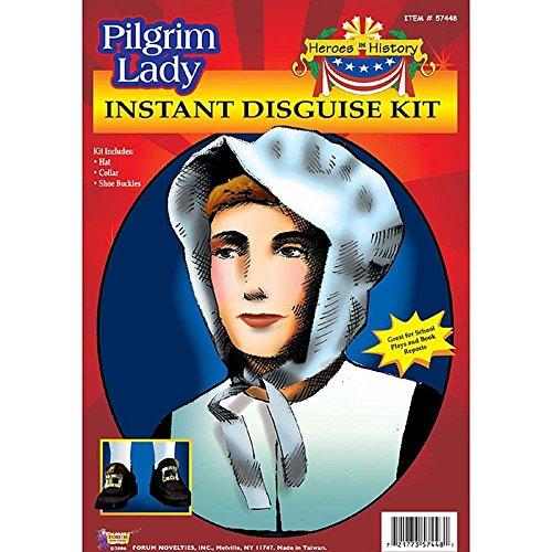 Forum Novelties Pilgrim Hat Collar & Shoe Buckles Disguise Adult Costume Kit