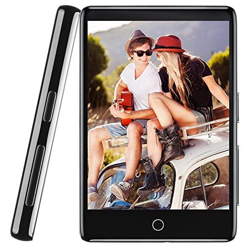 32GB MP3 Player mit Bluetooth 5.1, HiFi verlustfreier Sound MP3 Musik Player, Eingebauter Lautsprecher, mit Line-In Voice Recorder, 2.8 Zoll Full Touchscreen, FM Radio, Unterstützung bis zu 128GB