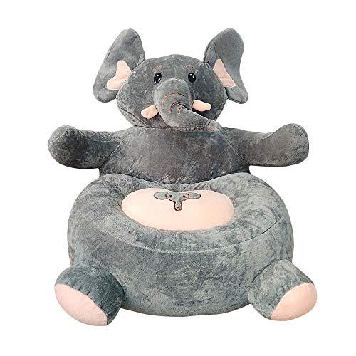 L.BAN Divano per Bebè Orso Seggiolino Apprendimento Seduta per Morbido Cuscino per Sedia Cuscini per l'alimentazione dei Bambini Animali sicuri Peluche Regalo (Elefante)