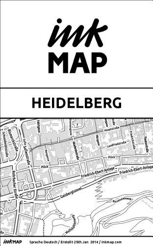 Inkmap Heidelberg - Karten für Kindle, Sehenswürdigkeiten, Kultur, Ausgehen (German)