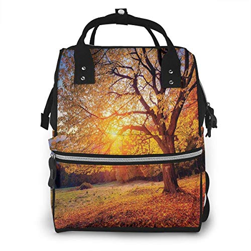 nbvncvbnbv Big Majestic Autumn Tree Wickeltasche Wasserdichte Multifunktions-Reisemumienrucksack-Wickeltaschen für die Babypflege Große Kapazität Stilvoll und langlebig