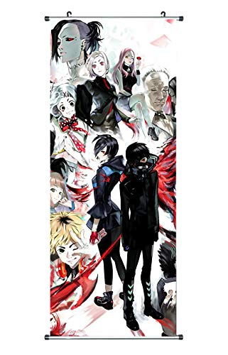 CoolChange Großes Tokyo Ghoul Rollbild / Kakemono aus Stoff Poster, 100x40cm, Motiv: Tokyo Ghoul Theme