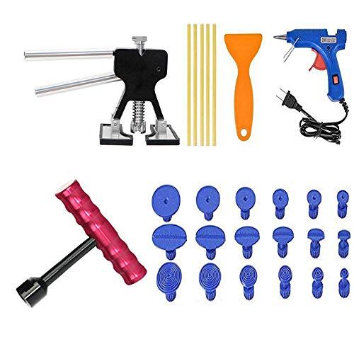 Goeco Kit Rimozione delle Ammaccature Senza Verniciatura,Strumenti Paintless Dent,Riparazione Dent Kit,di Riparazione Auto Dent,(Set da 27 Pezzi)