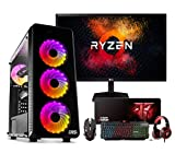 Megamania PC Gaming AMD Ryzen 5 3400G, Ordenador de sobremesa 4.2GHz Turbo Quad Core | 16GB...