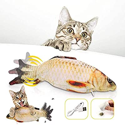 Catnip Fish Toys Moving Fish Toy For Cats, Floppy Fish Cat Toy For Indoor Cats Pets Kitten, Funny Interactive Cat Kicker Fish Toy, Usb, Washable, Dancing Fish Cat Toy, For Biting, Chewing And Kicking