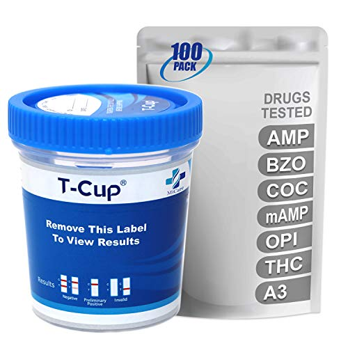 Affordable MiCare [100pk] - 6-Panel Multi Drug Test Cup (AMP/BZO/COC/mAMP/OPI/THC with A3) #MI-TDOA-...