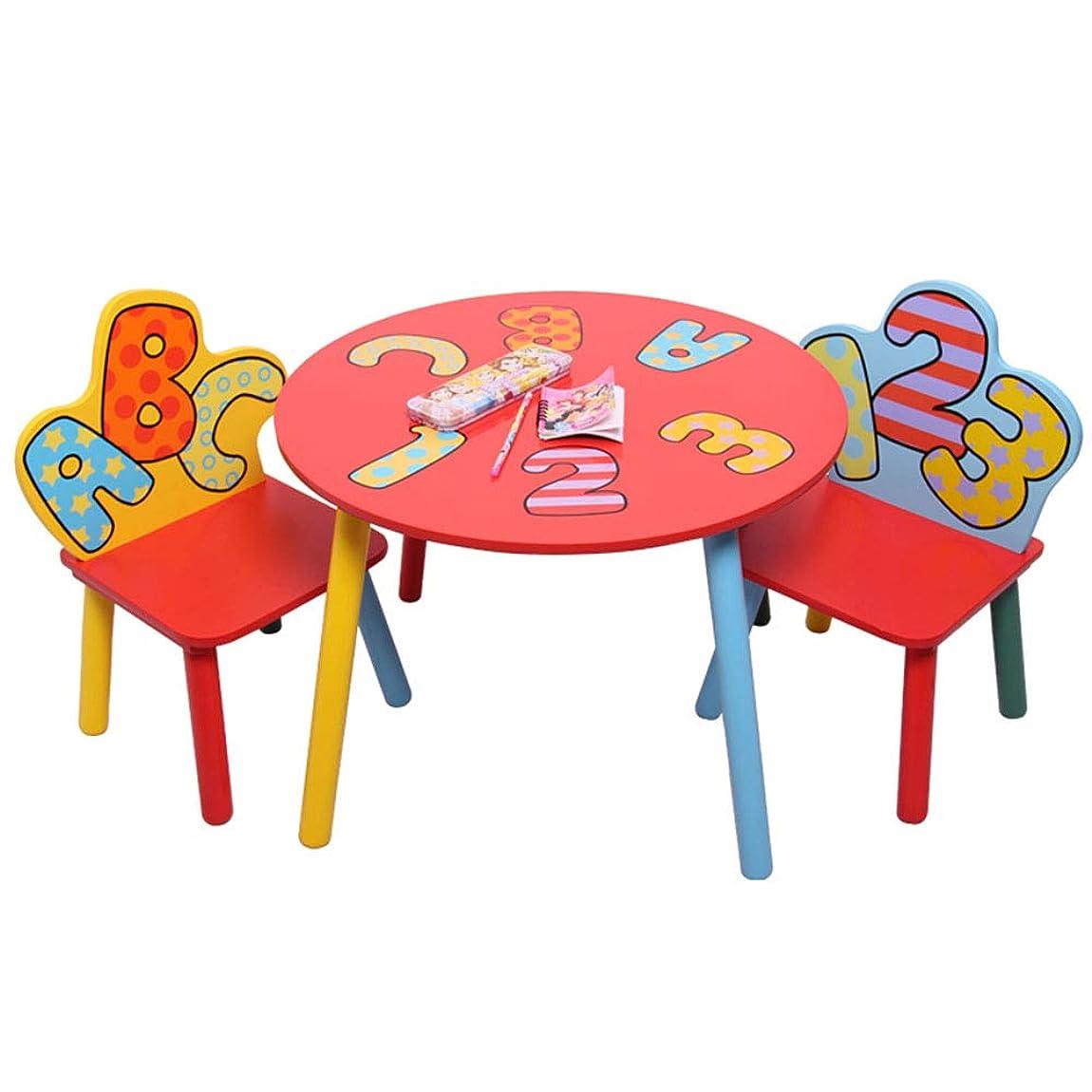 腹士気最初に子供用テーブル?チェアセット - ライティングデスク/ゲームテーブルあと振れ止めの椅子(28 * 28 * 52cm)