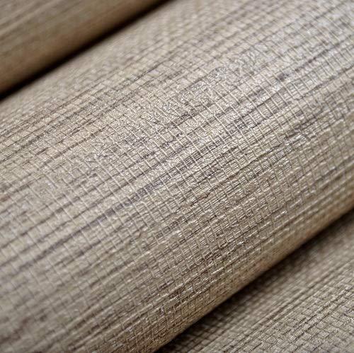 jidan Faux Weave Grasscloth Strukturierter Plain Wandpapiertapete Wohnkultur Waschbar Vinyl Wandverkleidung Grau, Beige, Creme Weiß (Color : Beige, Dimensions : 10mx53cm)