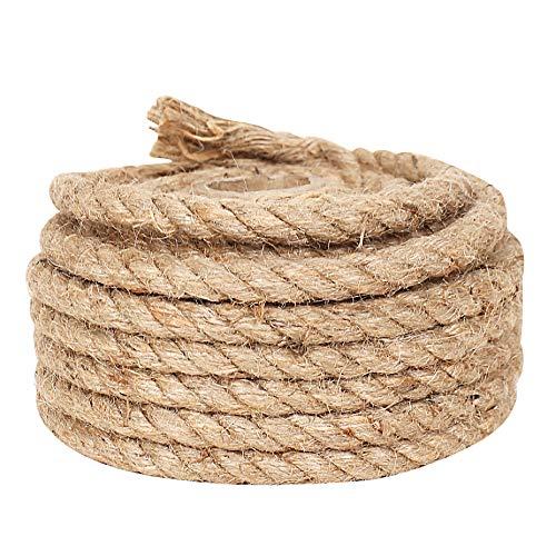 33 Feet 8 mm Jute Rope for Crafts Handmade Durable Packaging Cord for Gardening Camping Bundling Arts Natural Burlap Twine Strings