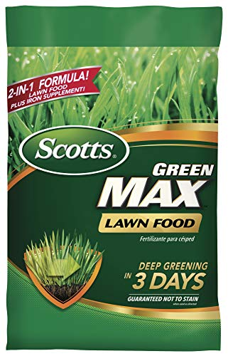 Scotts Green Max Lawn Food - Lawn Fertilizer Plus Iron Supplement Builds Thick, Green Lawns - Deep...
