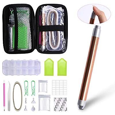 56PCS 5D Diamond Painting Tools Set with Bag, D...