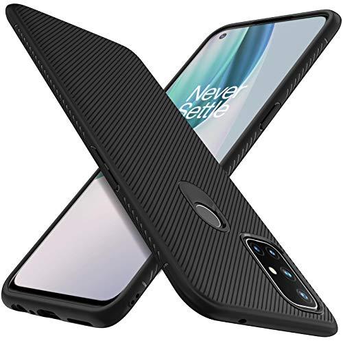 iBetter kompatibel med Oneplus nord N10-fodral, premium flexibelt tunt skydd stötsäkert med droppskyddsfodral kompatibelt med Oneplus nord N10 smartphone. (svart)