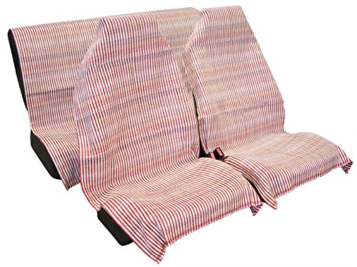VIP Jarapa para asiento de coche, 3 piezas. Fabricada en fibras naturales y sintéticas, Multicolor