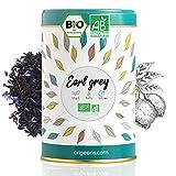 BIO EARL GREY TEE 125g | Earl Grey Tee mit Blüten, Tee lose | Schwarzer Tee Bio, Natürliches Bergamotte Aroma, Kornblumenblüten | Earl Grey tea