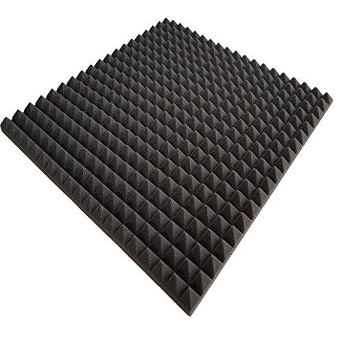 Pyra 3110, ca. 100 x 100 x 3 cm, antraciet zwart, FSE (brandvertragend volgens MVSS302) (verpakkingseenheid = 10 platen = ca. 10 m2)