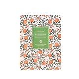 Lindo Diario de planificación de la Flor y la Flor de Cuero de la PU Cuaderno de planificación semanal Escolar Material de Oficina Papelería para niños (Color : A-M, tamaño : 6PCS)