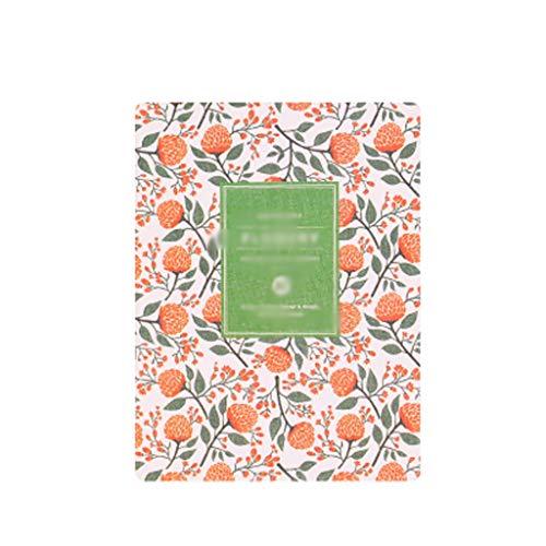 WFS Diarios Lindo A5 Floral Strip Label Notebook Crossover A6 Retro Acuarela Plan de Revestimiento en Blanco Cuaderno a Cuadros Notebook (Color : A-M, tamaño : 6PCS)
